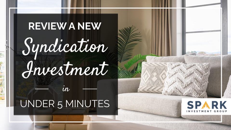 Review A New Syndication Investment In Under 5 Minutes